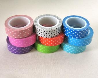 Polka Dot Washi Tape 10 yard Roll - Pick One Color