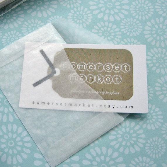 50 Mini Glassine Enveloppes 3 5 8 X 2 16 Pouces