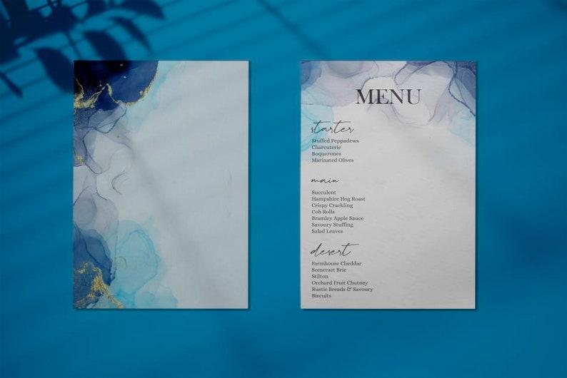Wedding Invitation Template Dusty Blue Wedding Invitation Template Download Wedding Invite Template Modern Wedding Invite Bundle
