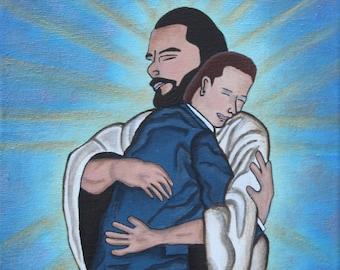 Jesus Hugging Etsy