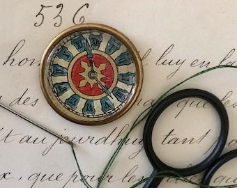 Exquisite Needle Minder Vintage Materials