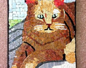 Cat Portrait Brown Cat Mosaic