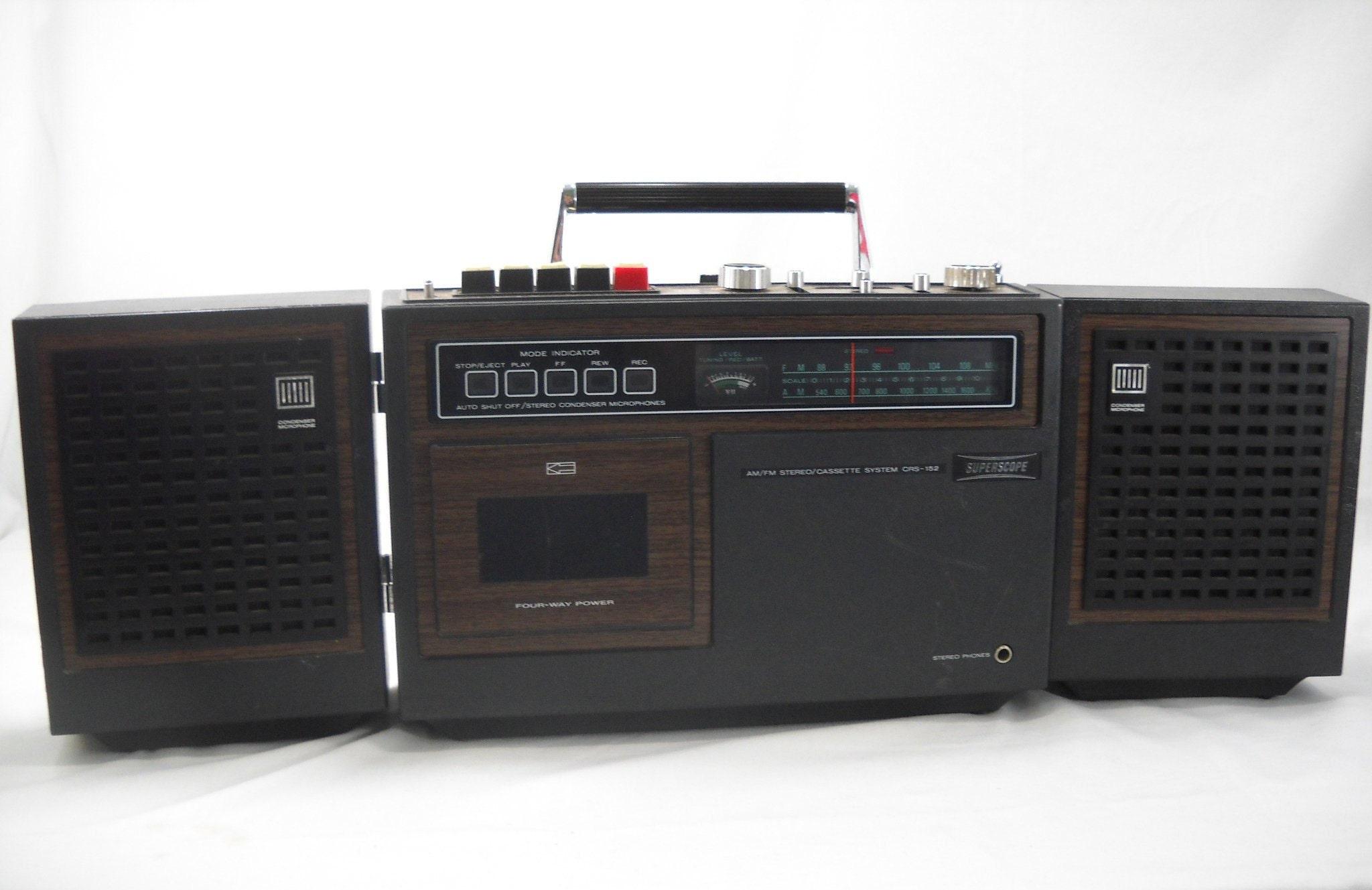 Vintage Marantz Superscope CRS-152 Boombox AM/FM Cassette Stereo Radio Free  Shipping