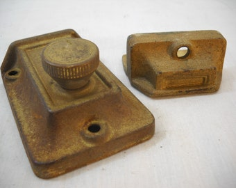 Vintage Cast YALE Dead Bolt Door Lock 2 Piece Works Free Shipping