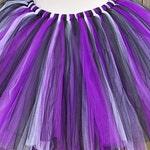 I am so Witchy Black Purple and White Ravens Tutu Halloween Tutu