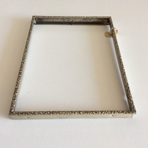 Vintage Silver Plated Metal Photo Frame Without Glass Etsy
