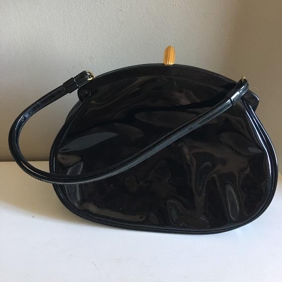 Coblentz Original Black Patent Handbag  / 1960s Bl