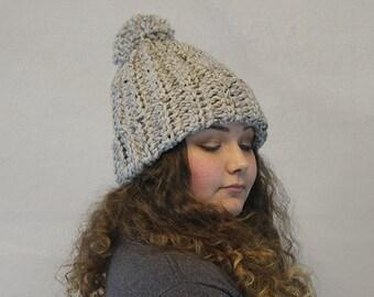 Crochet Chunky Beanie / Pom / Wool Beanie / THE CHARLIE BEANIE