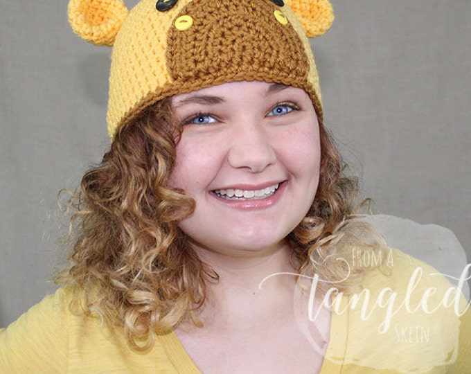 Crochet Giraffe Hat / GIRAFFE BEANIE