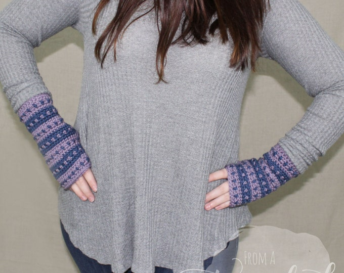 Crochet Wristers / Fingerless Gloves / Wrist Warmers / MARTHA WRISTERS