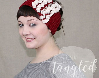 Crochet Earwarmer / Headwrap / Headband / THE STELLA WARMER