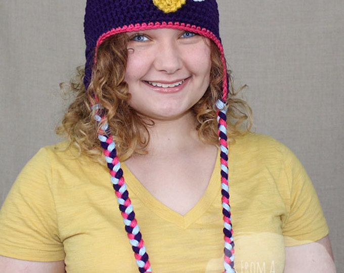 Crochet Owl Hat / OWL EARFLAP