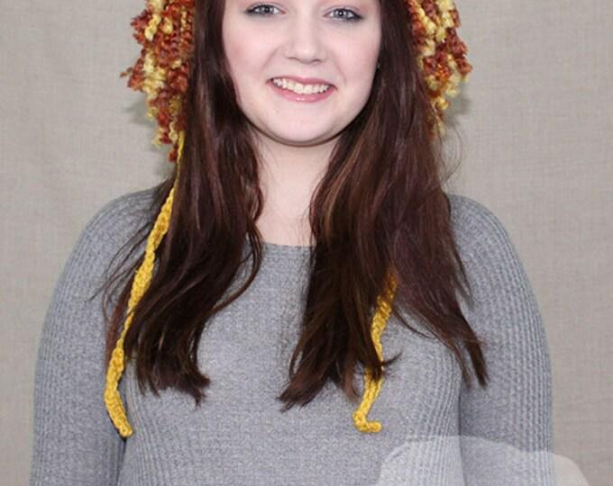 Crochet Lion Earflap / Lion Hat / THE LION BONNET