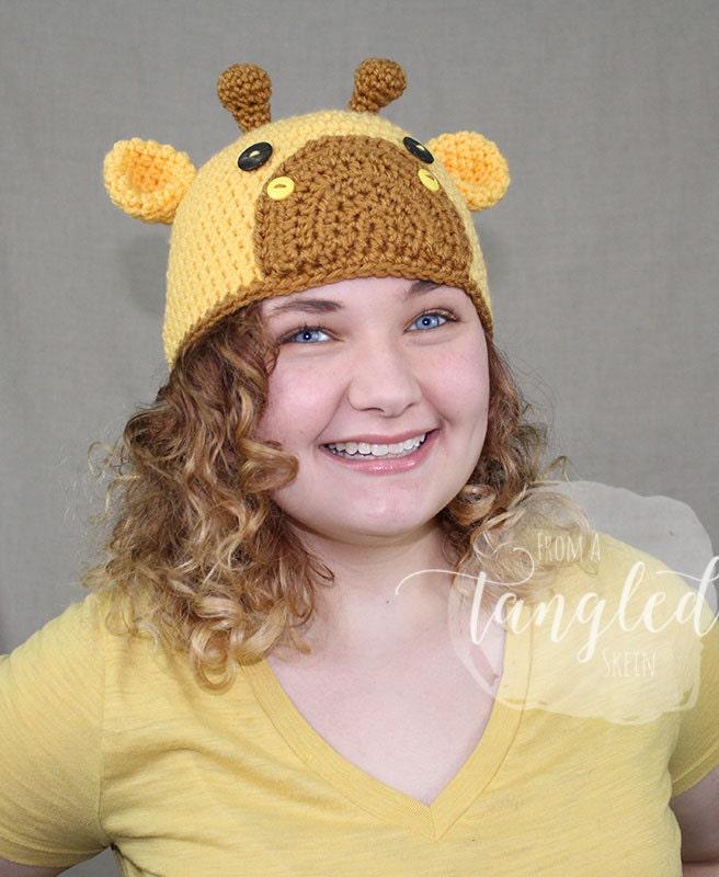 Crochet Giraffe Hat Giraffe Beanie