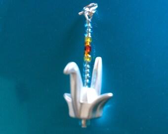 Crane Zipper Pull charm