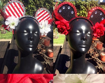 Disneyland Minnie Mouse Ears - Red, Black and White
