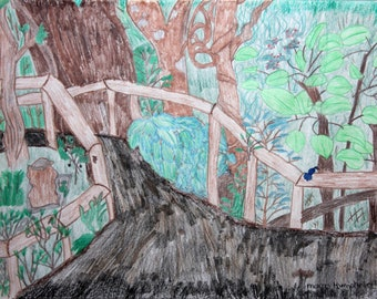 Wingham Brush Original painting by Margo Humphries