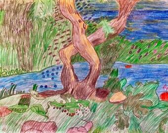 Bright Nature original by Margo Humphries