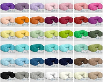 Minky Boppy® Cover, Nursing Pillow Cover - YOU PICK the Solid Minky Dot Color - 42 Colors Available - Embroidery Personalization Available