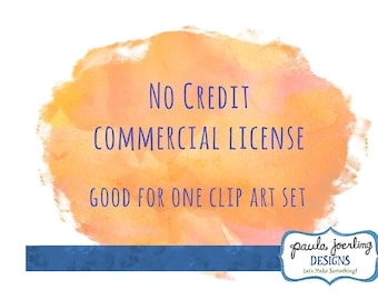 Small Business No Credit License For One Clip Art Set