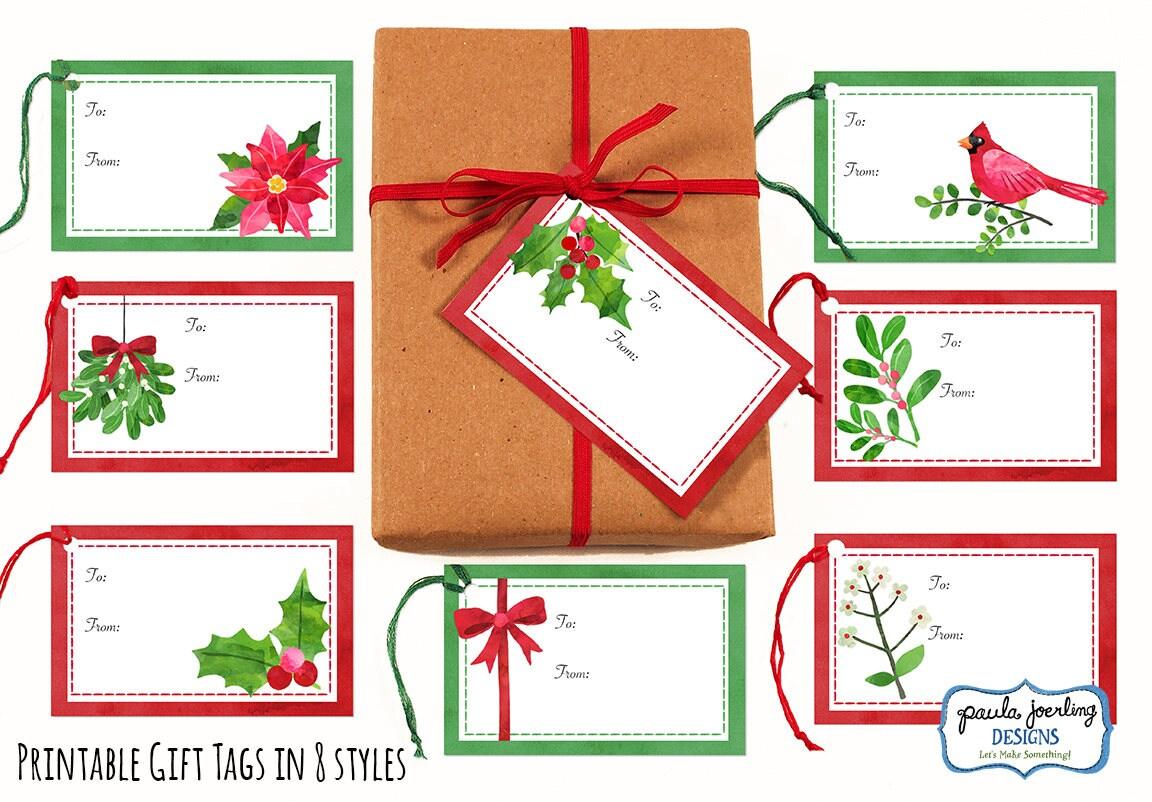 Druckbare Weihnachten Geschenkanhänger Urlaub Geschenk-Tags | Etsy