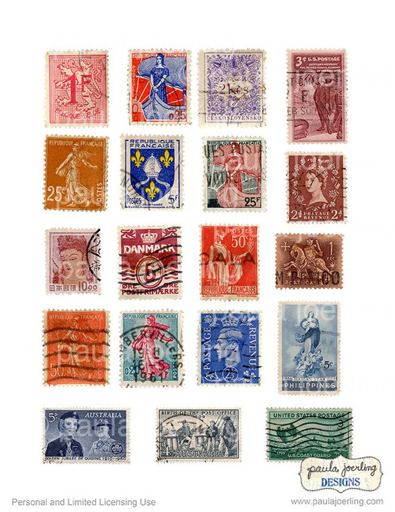 It is a picture of Stamps Printable within postcard
