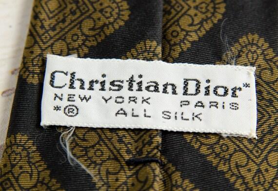 b66a8eab69f Vintage Necktie Dior Men s Silk Foulard 1950s 3 Wide