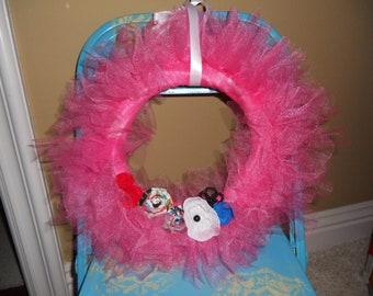 Pink Tulle Wreath