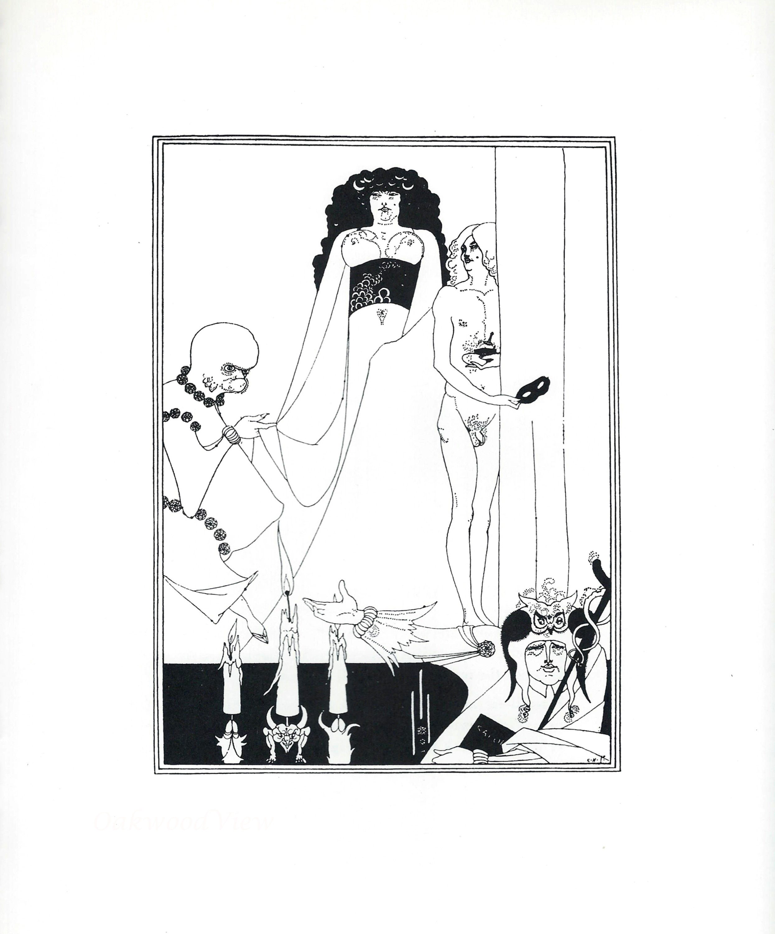 A2 POSTER RE PRINT Antiquitäten & Kunst AUBREY BEARDSLEY ILLUSTRATION OF SALOME BY OSCAR WILDE A3