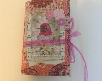 Junk Journal, handmade Journal, Travel Journal, Dragonflies Birds Journal