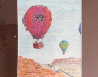 Original colored pencil drawing