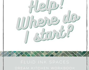 printable kitchen planner, Kitchen room design checklist, renovation workbook, home improvement, dream kitchen starting out ideas