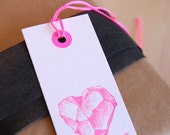 Gift tag, bookmark, geo, geologist, You rock, occasion gift tags in neon pink and black Valentine 39 s Day, Mother 39 s day, any day, any x6