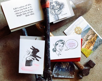 Card sale, bulk buy, letterpress greeting cards, valentines day special, cards for him, on sale 'Tools'