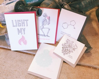 Card sale, bulk buy, letterpress greeting cards, valentines day special, cards for him, on sale 'Drill'