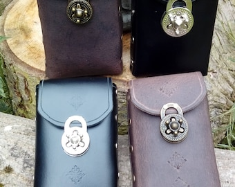 Large Leather Phone Pouch (combi lock)