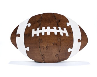 BrkBls - Football Toy, Nursery Decor, Football Room Decor, Kids Toy, Kids Decor, Toys for Boys, Sports Decor Wooden Toy Wood Toy Wood Puzzle