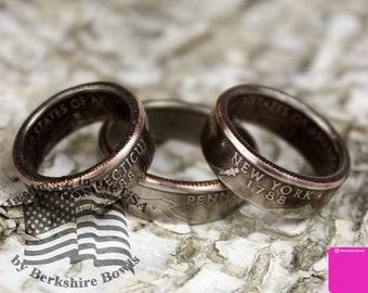 BrkBls - Quarter Ring, Coin Ring, State Quarter Ring, State Coin Ring, State Ring, Rustic Ring, Coin Jewelry, Rings, Ring