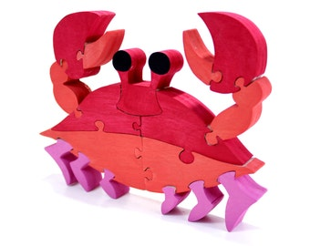 BrkBls - Kids Toy, Kids Gift, Educational Toy, Handmade Puzzle, Wood Toy, Wood Puzzle, Crab Toy, Kids Puzzle