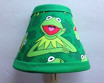 Kermit The Frog Sesame Street Fabric Night Light/Children's GiftFREE SHIPPING