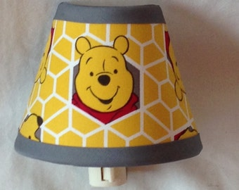 Winnie the Pooh Fabric Nursery Night Light/Baby GiftFREE SHIPPING