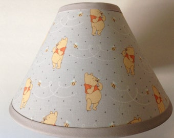 Winnie the Pooh Gray Fabric Nursery Lamp Shade/Baby Gift FREE SHIPPING