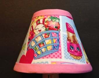 Shopkins Pink Fabric Children's Night Light/Children's Gift FREE SHIPPING