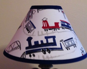 Trains Children's Fabric Lamp Shade/Baby Gift FREE SHIPPING