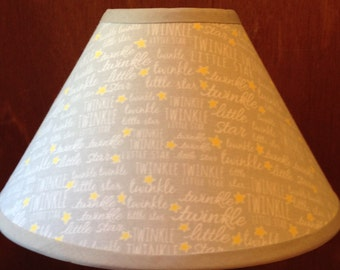 Twinkle Twinkle Little Star Fabric Nursery Lamp Shade/Gray Unisex Nursery Lampshade/Baby Gift FREE SHIPPING