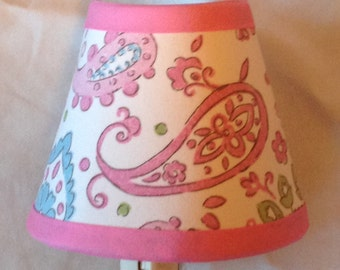Pink Brooklyn Paisley Girls Night Light/Children's Gift FREE SHIPPING