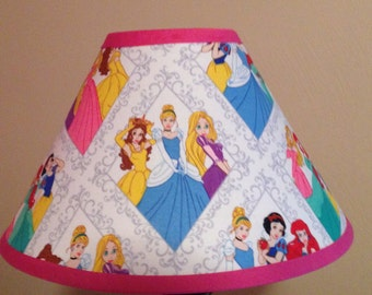 Disney Princesses Fabric Childrens Lamp Shade/Children's Gift FREE SHIPPING