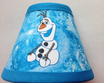Disney Olaf Frozen Blue Fabric Night Light/Children's Gift FREE SHIPPING