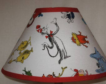 Dr. Suess Children's Fabric Lamp Shade/Children's Gift FREE SHIPPING