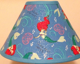 Disney Little Mermaid Children's Fabric Lamp Shade/Children's Gift FREE SHIPPING